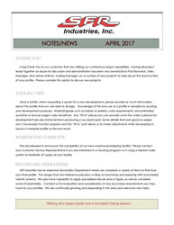 SFR Industries April 2017 Newsletter