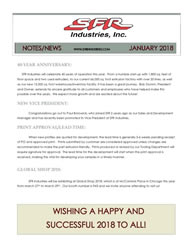 SFR Industries January 2018 Newsletter